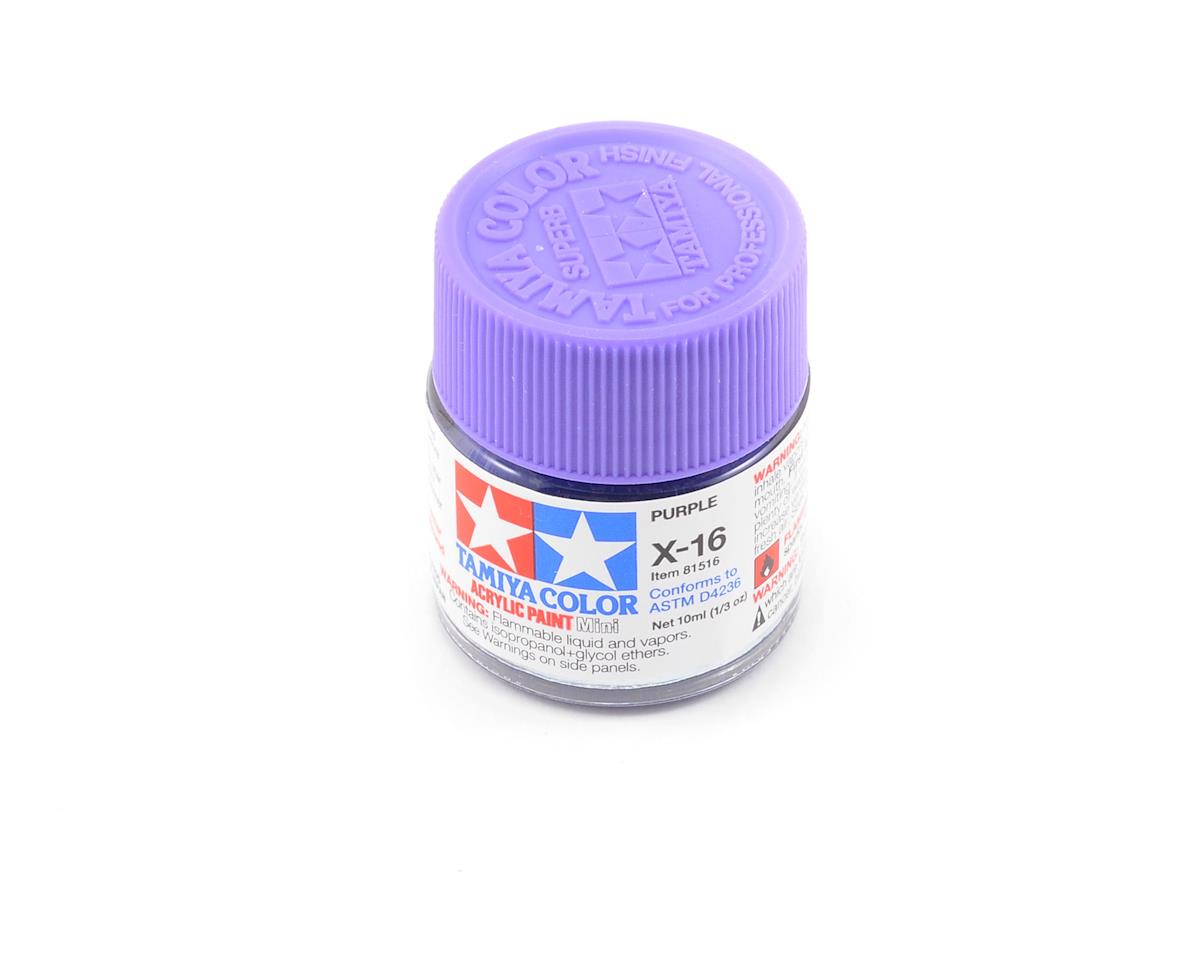 Tamiya X16 Purple Acrylic Paint Mini (1/3oz)