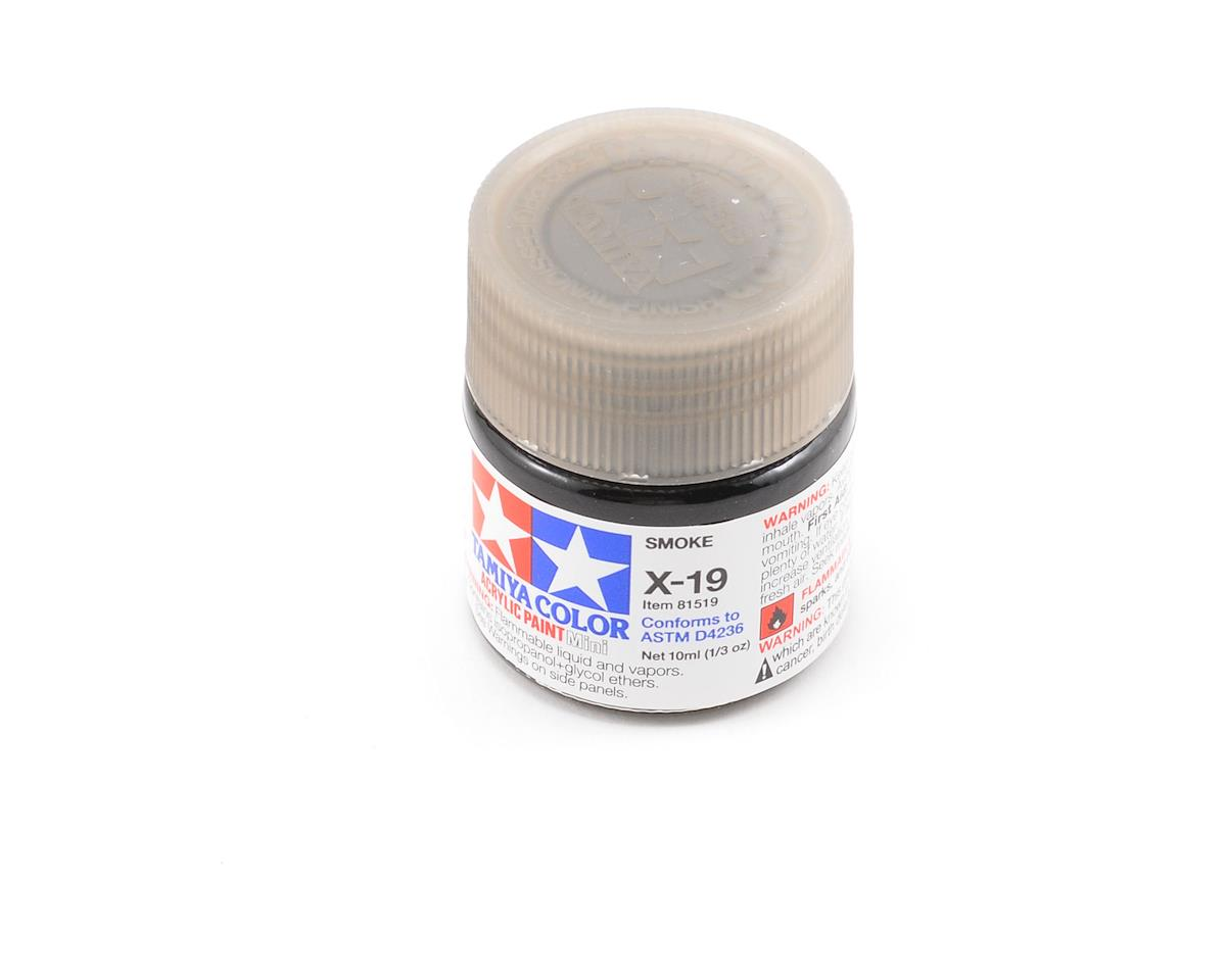 Tamiya X19 Smoke Acrylic Paint Mini (1/3oz)