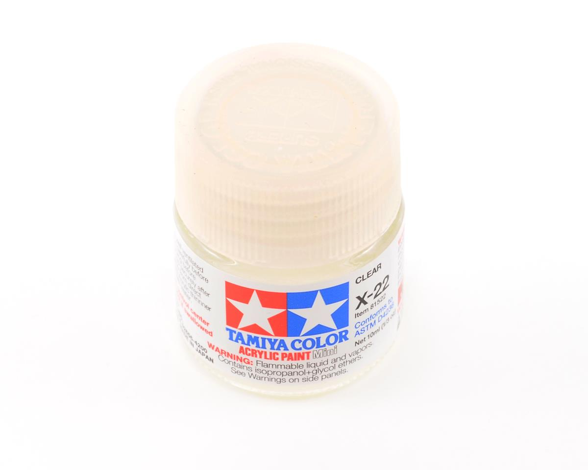 X22 Clear Acrylic Paint Mini (1/3oz) by Tamiya