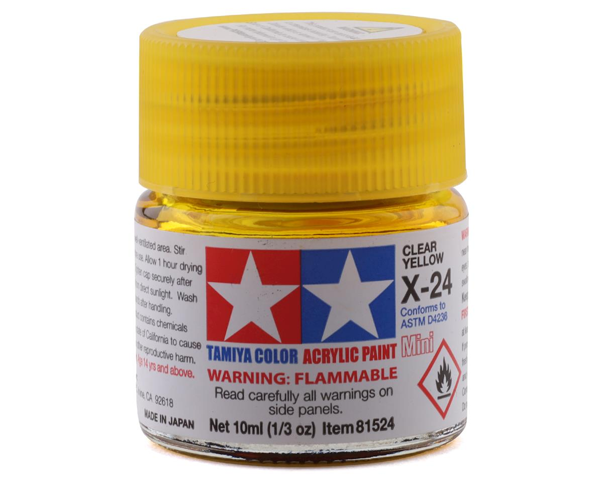 X24 Clear Yellow Acrylic Paint Mini (1/3oz) by Tamiya