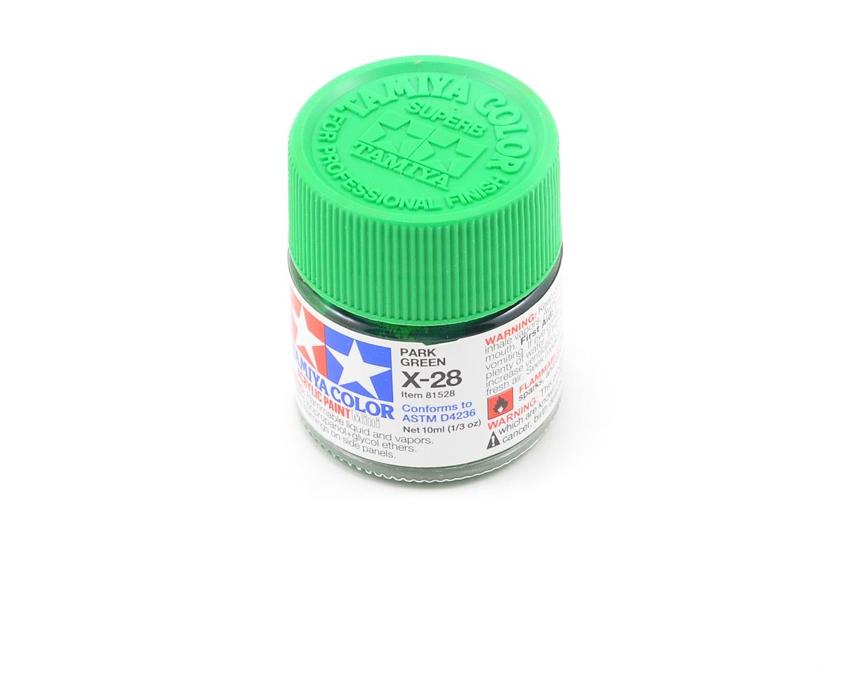 Acrylic Mini X28 Park Green Paint (10ml) by Tamiya