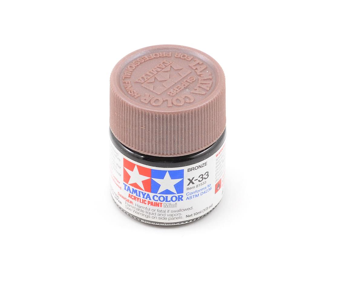Acrylic Mini X33 Metallic Bronze Paint (10ml) by Tamiya