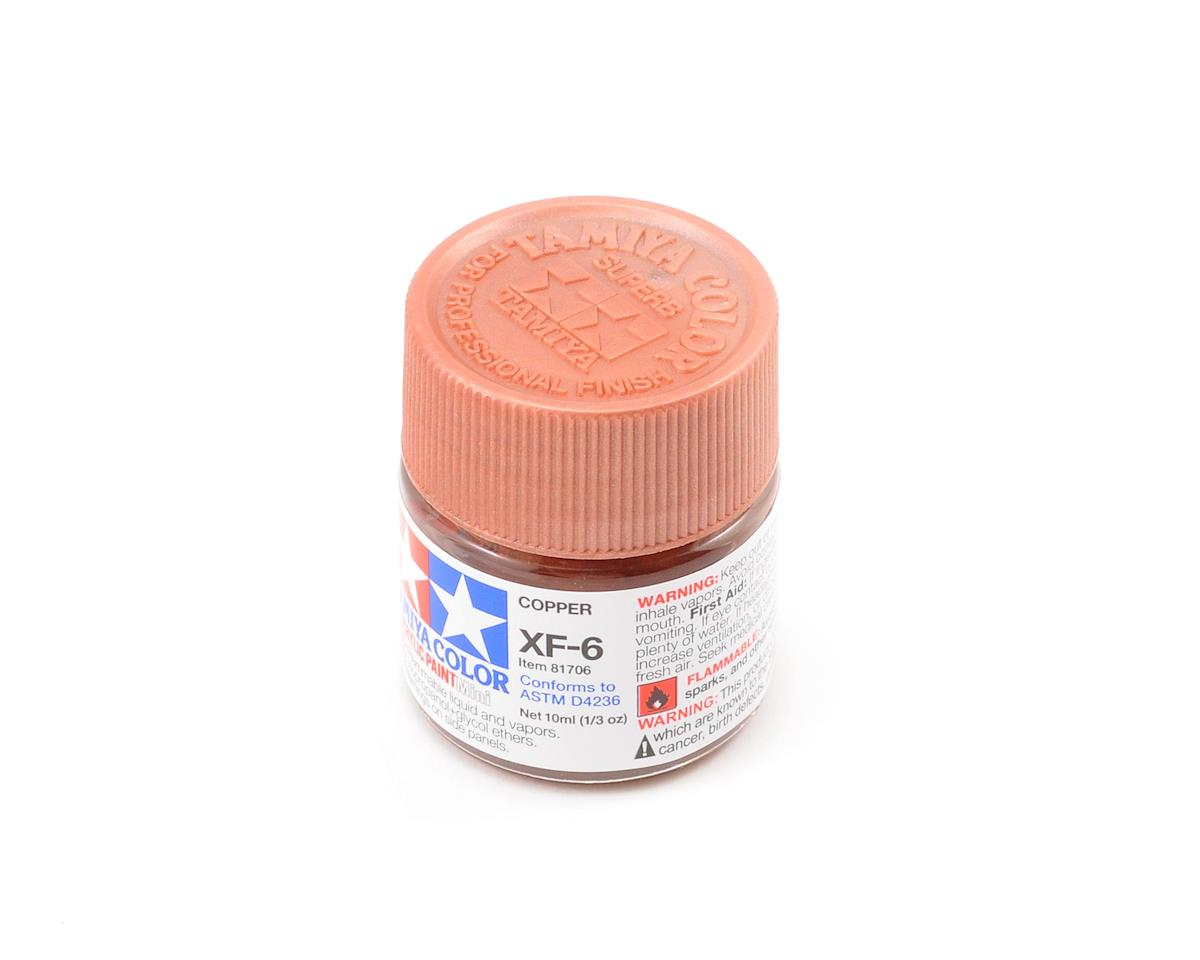 Acrylic Mini XF6 Copper Paint (10ml) by Tamiya