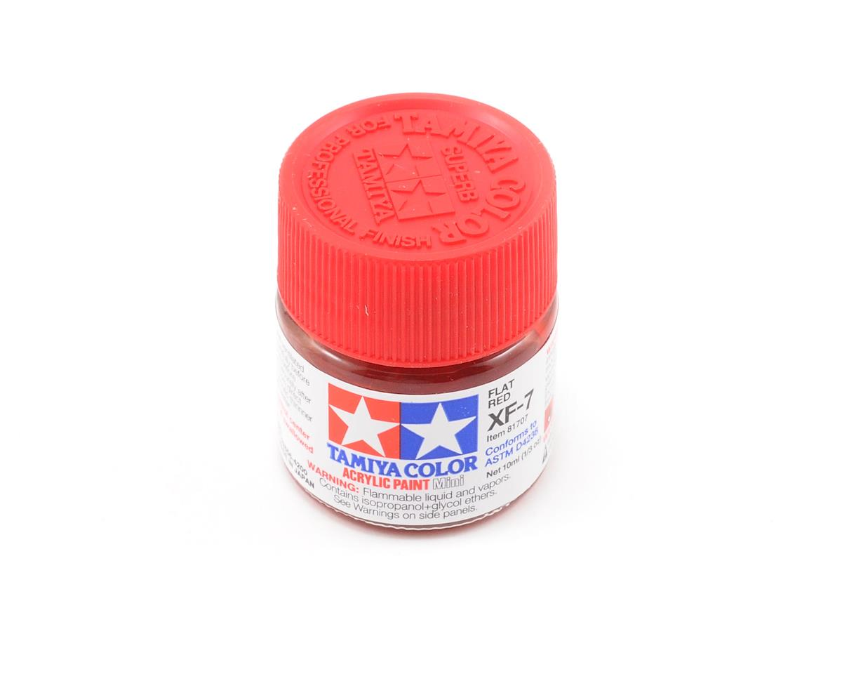 Acrylic Mini XF7 Flat Red Paint (10ml) by Tamiya