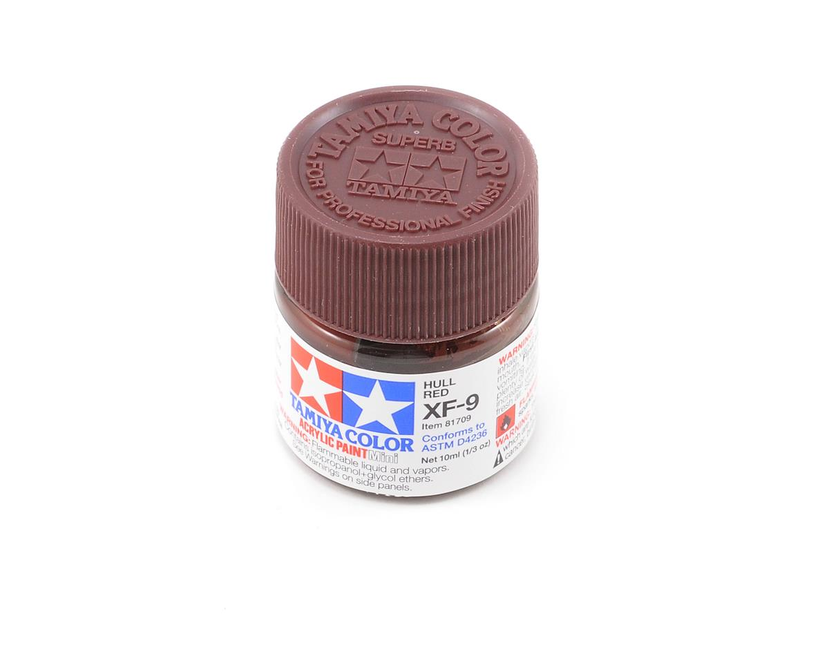 Acrylic Mini XF9 Hull Red Paint (10ml) by Tamiya