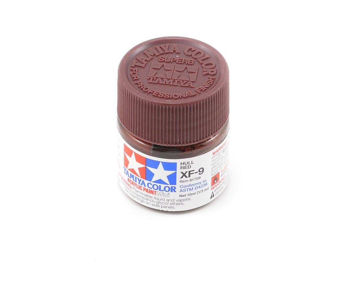 Tamiya Acrylic Mini XF9 Flat Hull Red Paint (10ml)