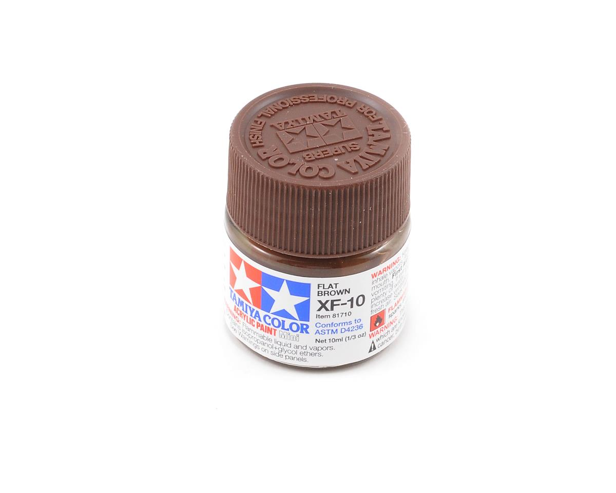 Acrylic Mini XF10 Flat Brown Paint (10ml) by Tamiya