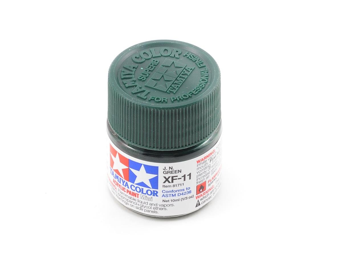 Acrylic Mini XF11 J.N. Green Paint (10ml) by Tamiya