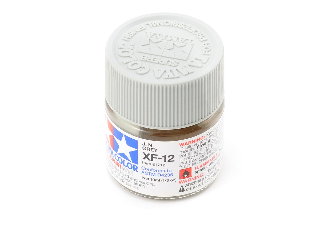 Tamiya Acrylic Mini XF12 J.N. Flat Gray Paint (10ml)