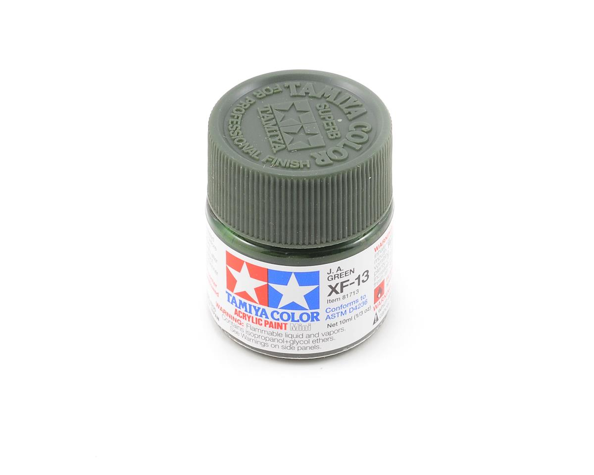 Tamiya Acrylic Mini XF13 J.A. Flat Green Paint (10ml)