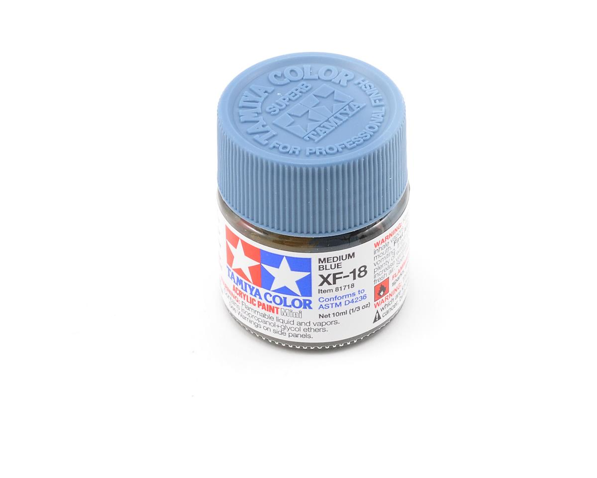 Tamiya XF18 Medium Blue Acrylic Paint Mini (1/3oz)