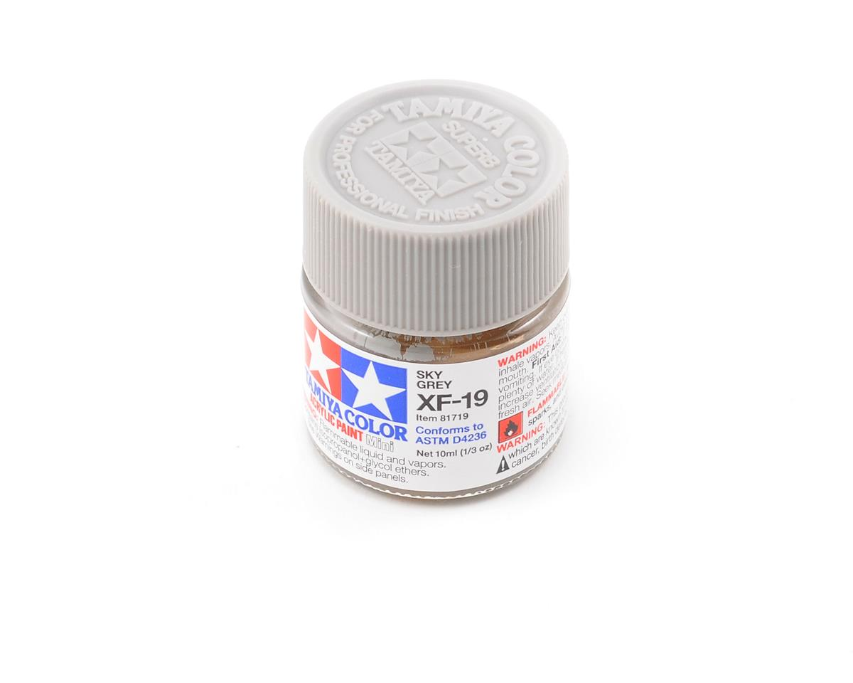 Tamiya Acrylic Mini XF19 Flat Sky Gray Paint (10ml)