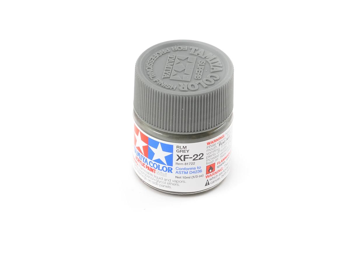 Acrylic Mini XF22 RLM Gray Paint (10ml) by Tamiya
