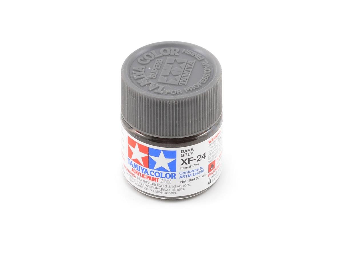 Acrylic Mini XF24 Dark Gray Paint (10ml) by Tamiya