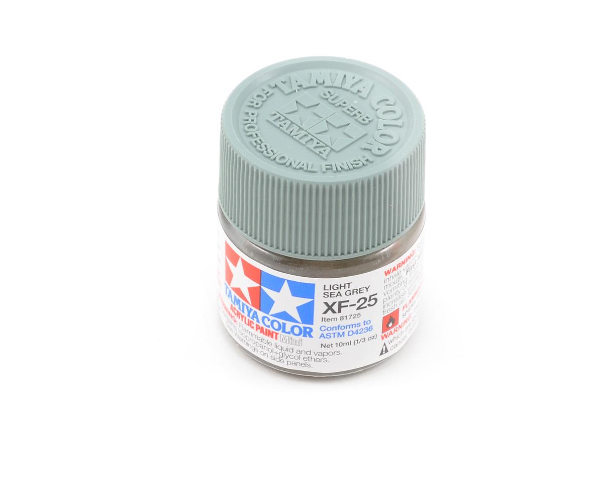 Tamiya Acrylic Mini XF25 Flat Light Sea Gray Paint (10ml)