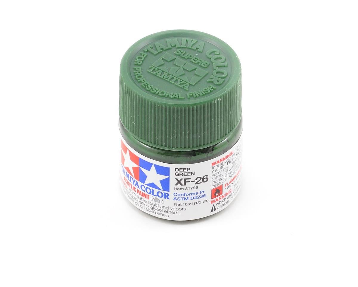 Acrylic Mini XF26 Deep Green Paint (10ml) by Tamiya