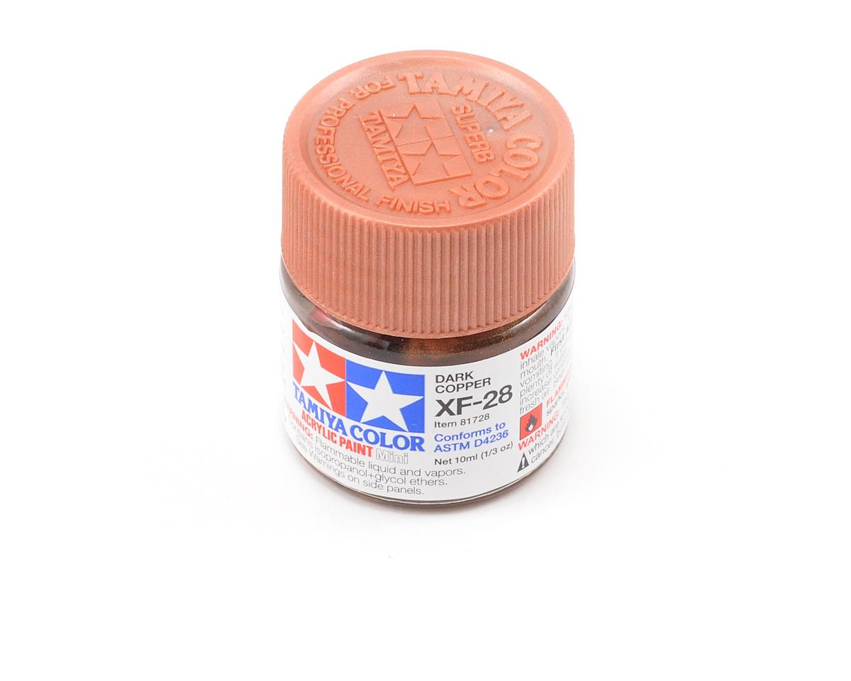 Tamiya Acrylic Mini XF28 Flat Dark Copper Paint (10ml)