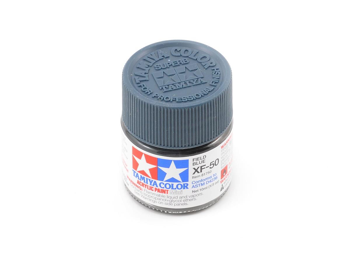 Tamiya Acrylic Mini XF50 Flat Field Blue Paint (10ml)