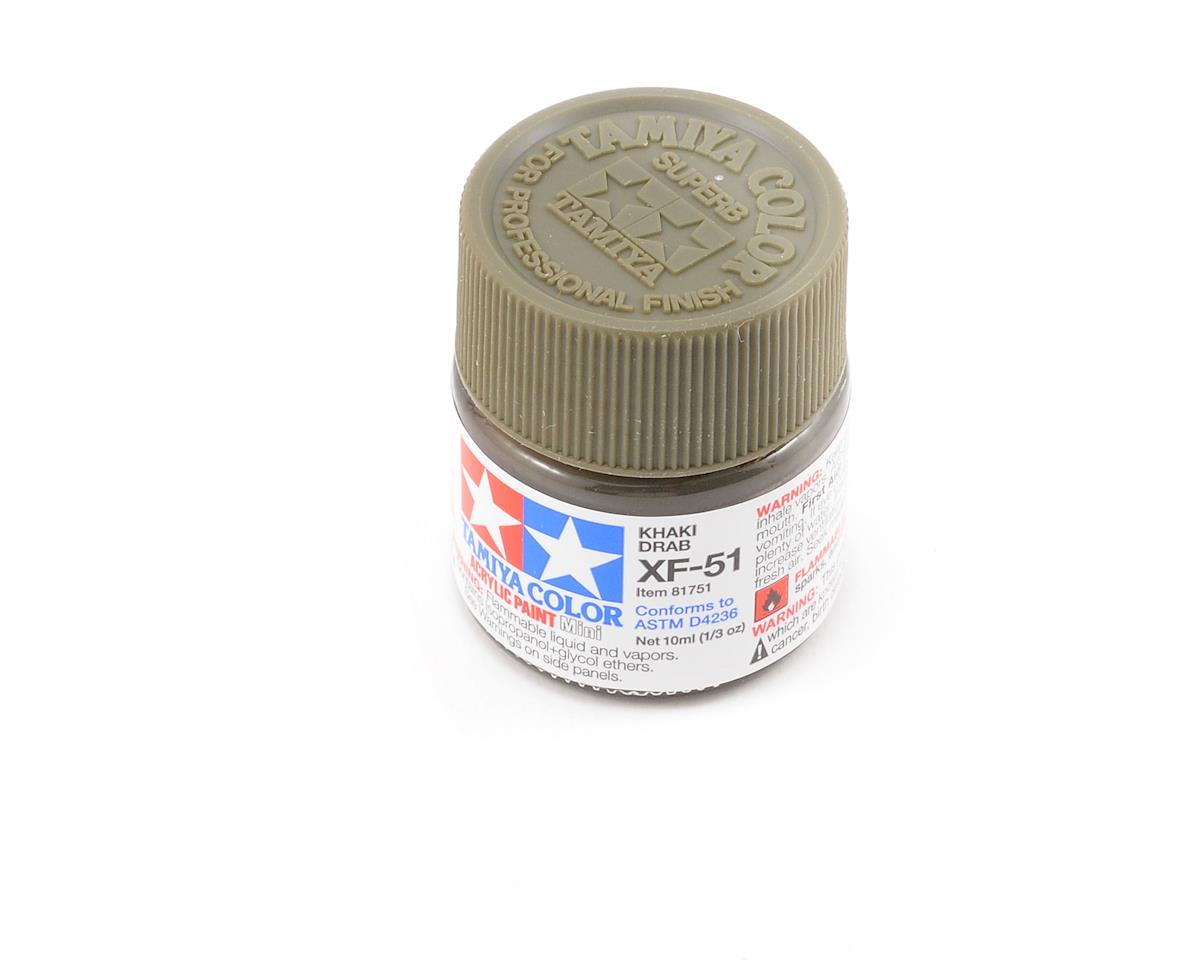 Acrylic Mini XF51 Khaki Drab Paint (10ml) by Tamiya
