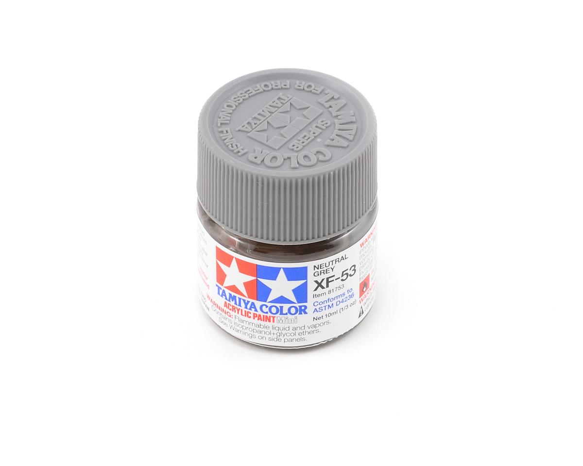 Acrylic Mini XF53 Neutral Gray Paint (10ml) by Tamiya
