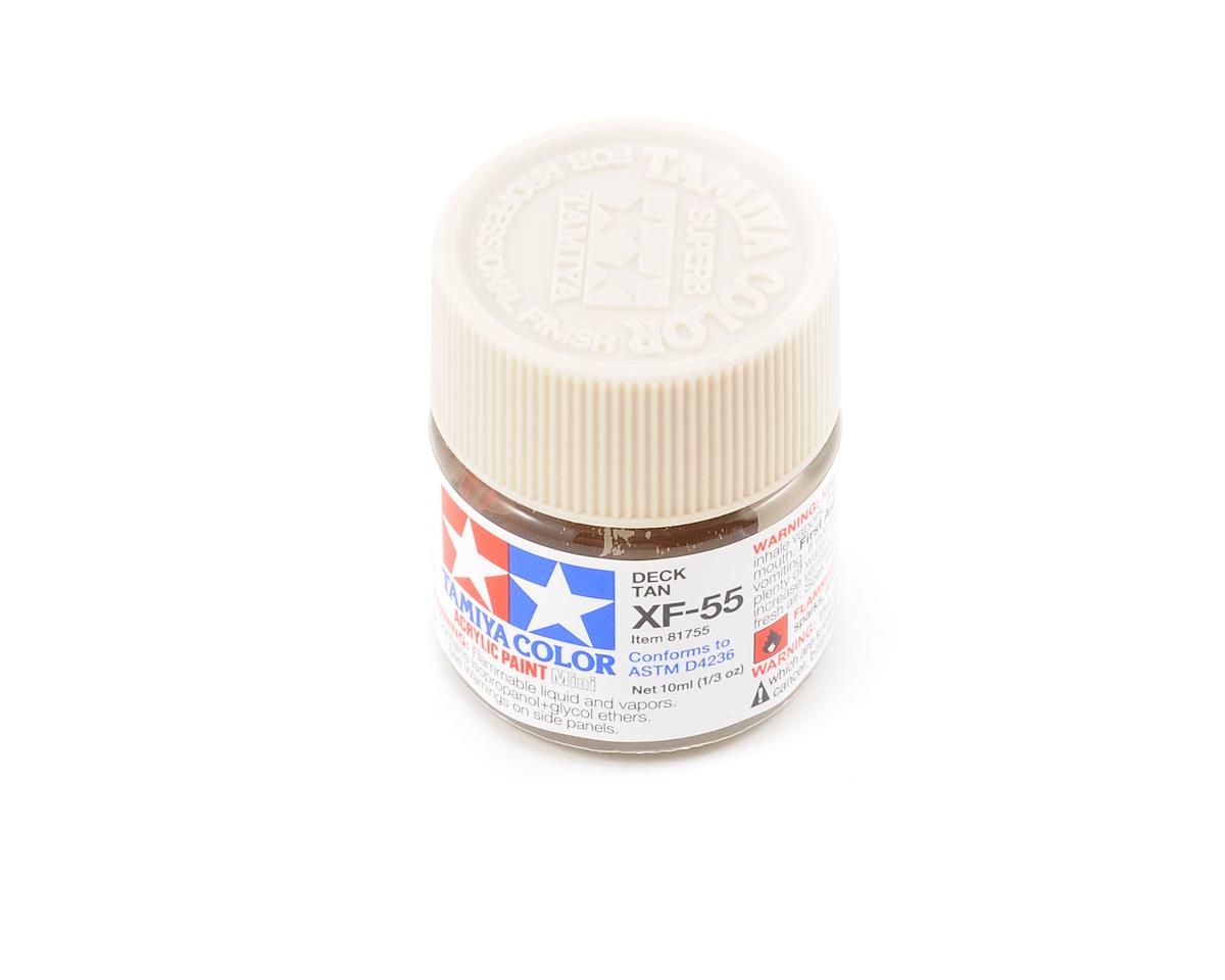 Tamiya Acrylic Mini XF55 Flat Deck Tan Paint (10ml)