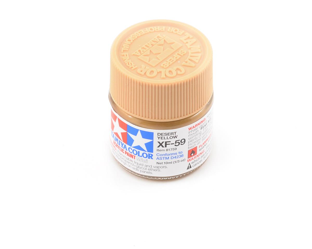 Tamiya Acrylic Mini XF59 Flat Desert Yellow Paint (10ml)