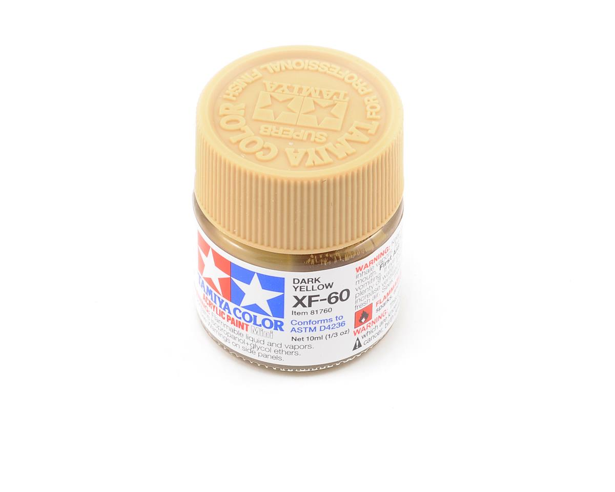 Tamiya Acrylic Mini XF60 Dark Yellow Paint (10ml)