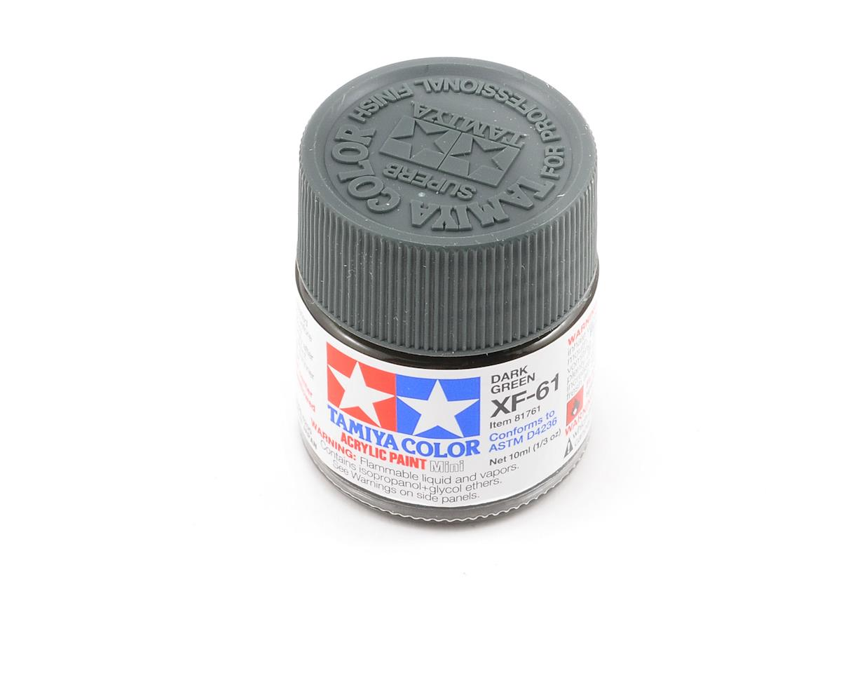 Tamiya Acrylic Mini XF61 Flat Dark Green Paint (10ml)