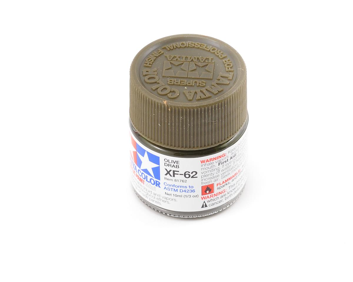 Tamiya Acrylic Mini XF62 Flat Olive Drab Paint (10ml)