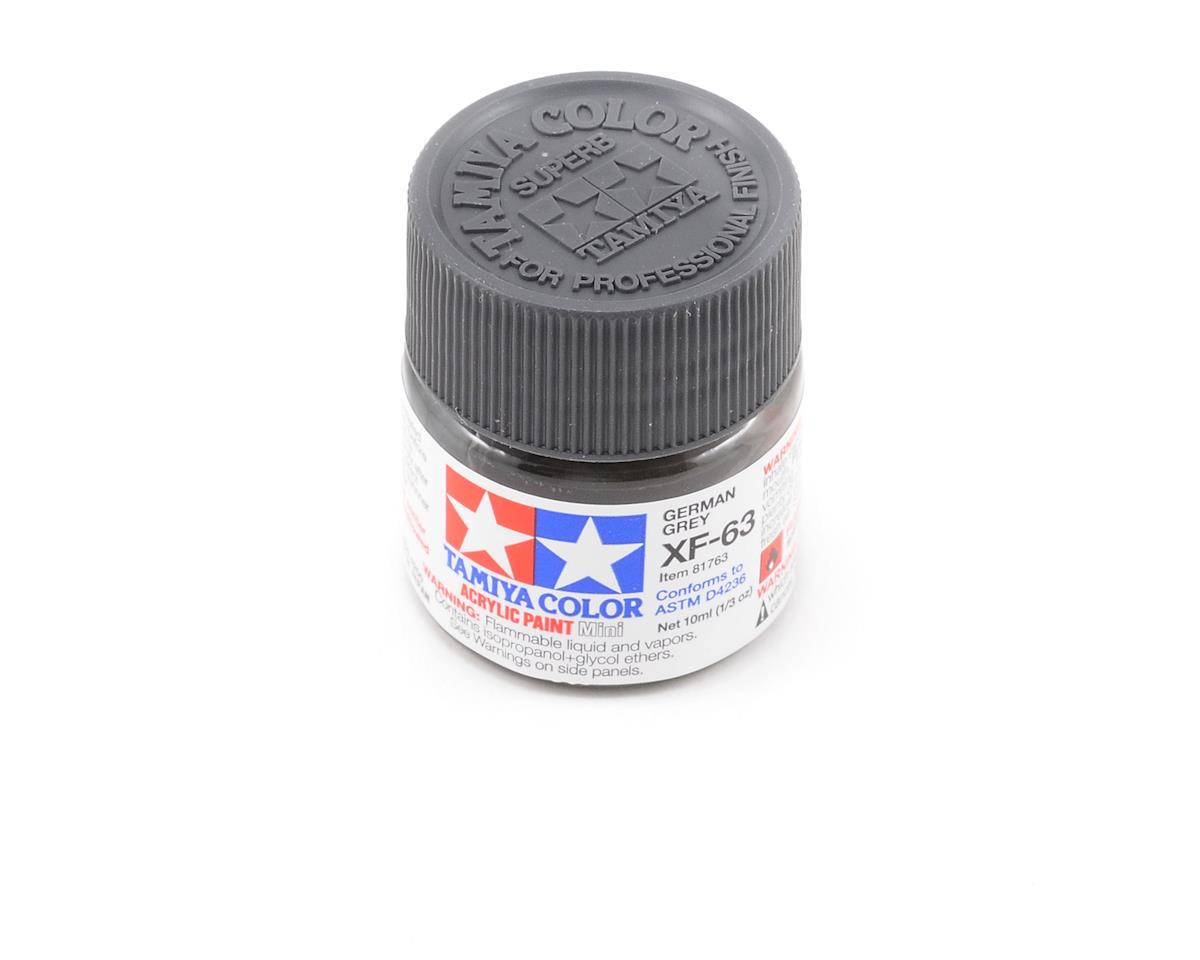 Acrylic Mini XF63 German Gray Paint (10ml) by Tamiya