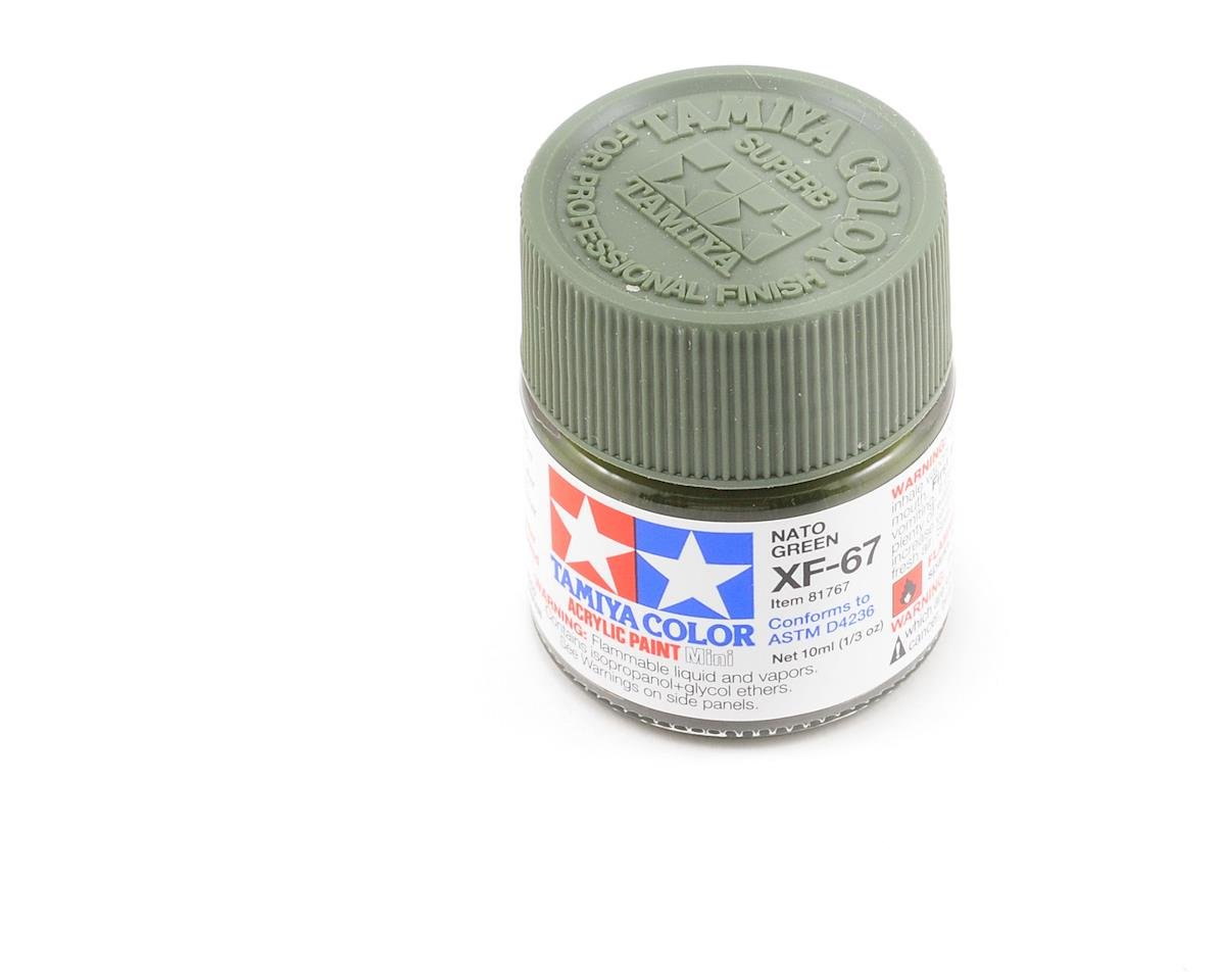 Acrylic Mini XF67 Nato Green Paint (10ml) by Tamiya