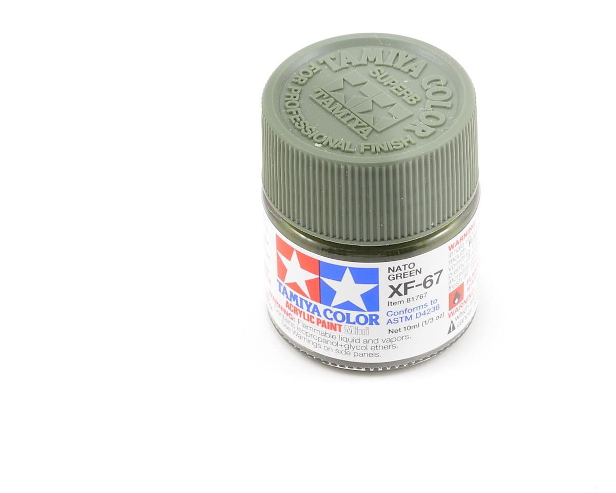 Tamiya Acrylic Mini XF67 Flat Nato Green Paint (10ml)