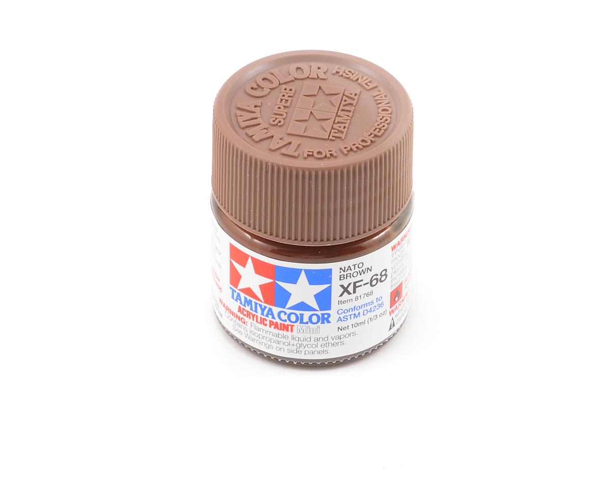 Acrylic Mini XF68 Nato Brown Paint (10ml) by Tamiya