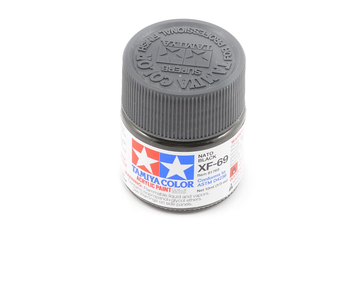 Acrylic Mini XF69 Nato Black Paint (10ml) by Tamiya