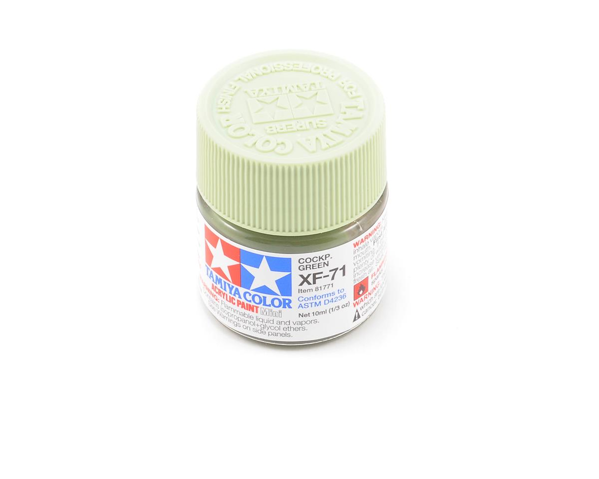 Tamiya Acrylic Mini XF71 Flat Cockpit Green Paint (10ml)