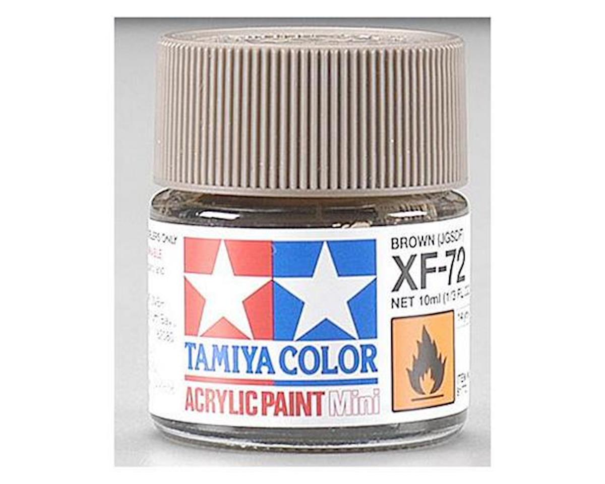 Acrylic Mini XF72 Brown Paint (10ml) by Tamiya