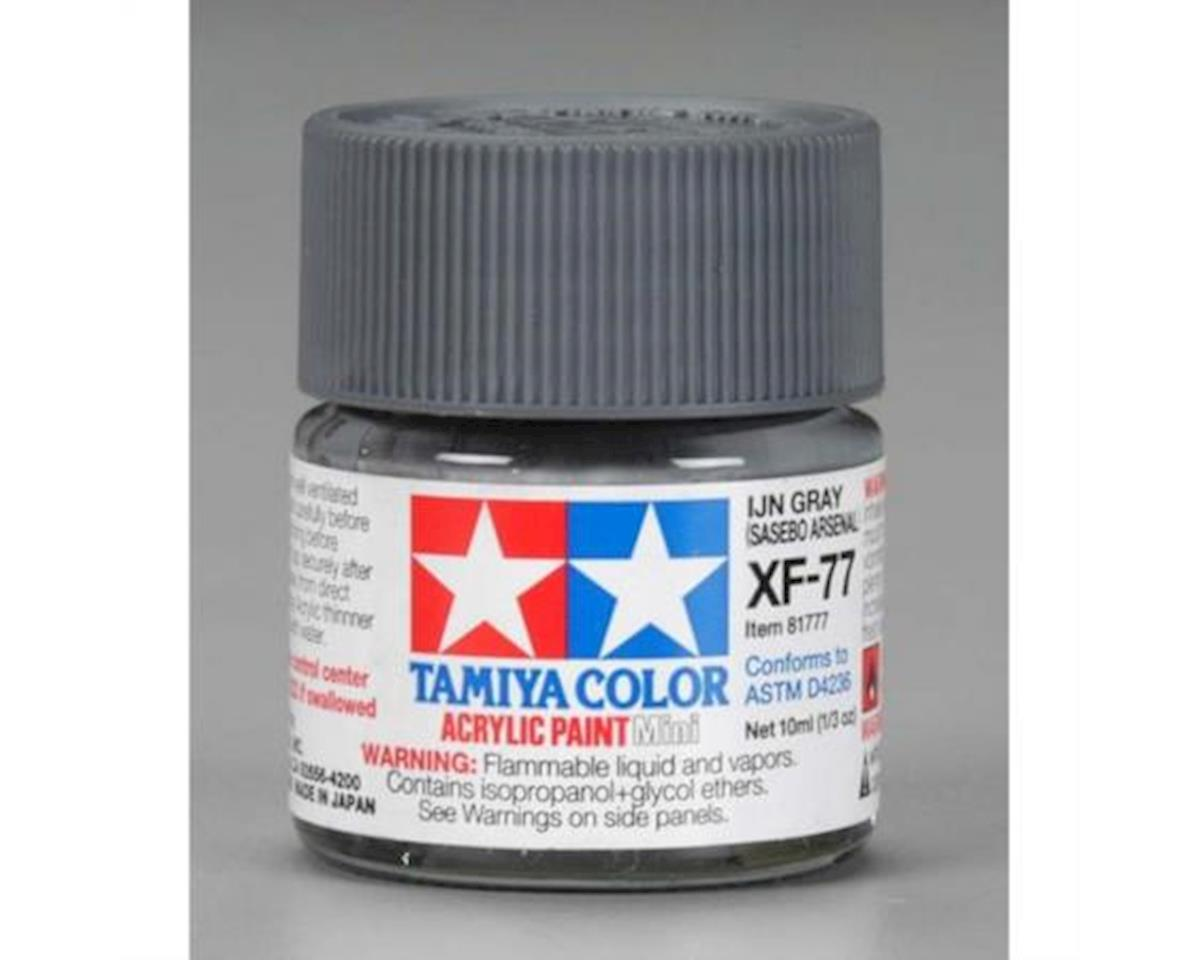 Tamiya Acrylic Mini XF77 IJN Flat Gray Paint (10ml)