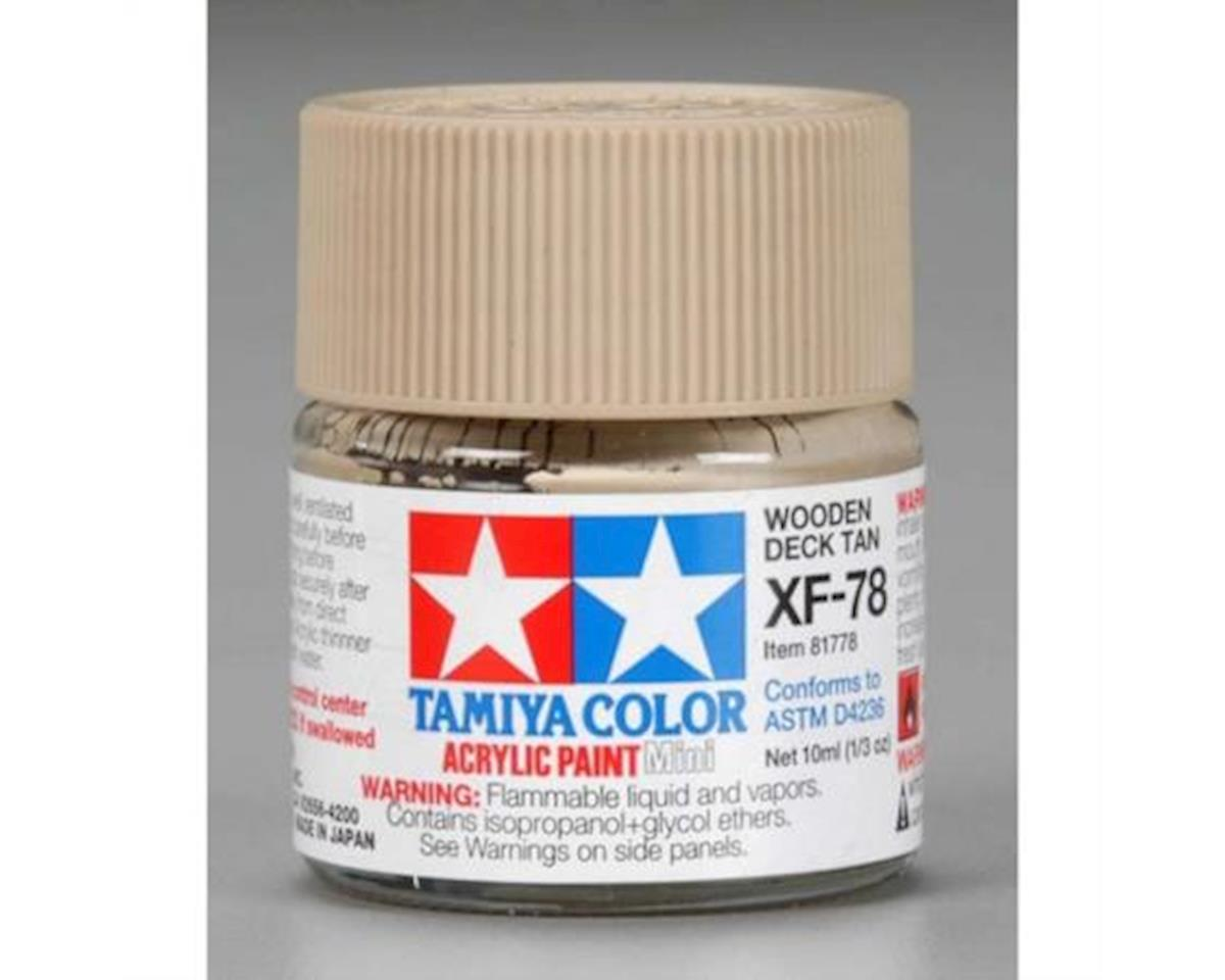 Tamiya Acrylic Mini XF78 Flat Wood Deck Tan Paint (10ml)