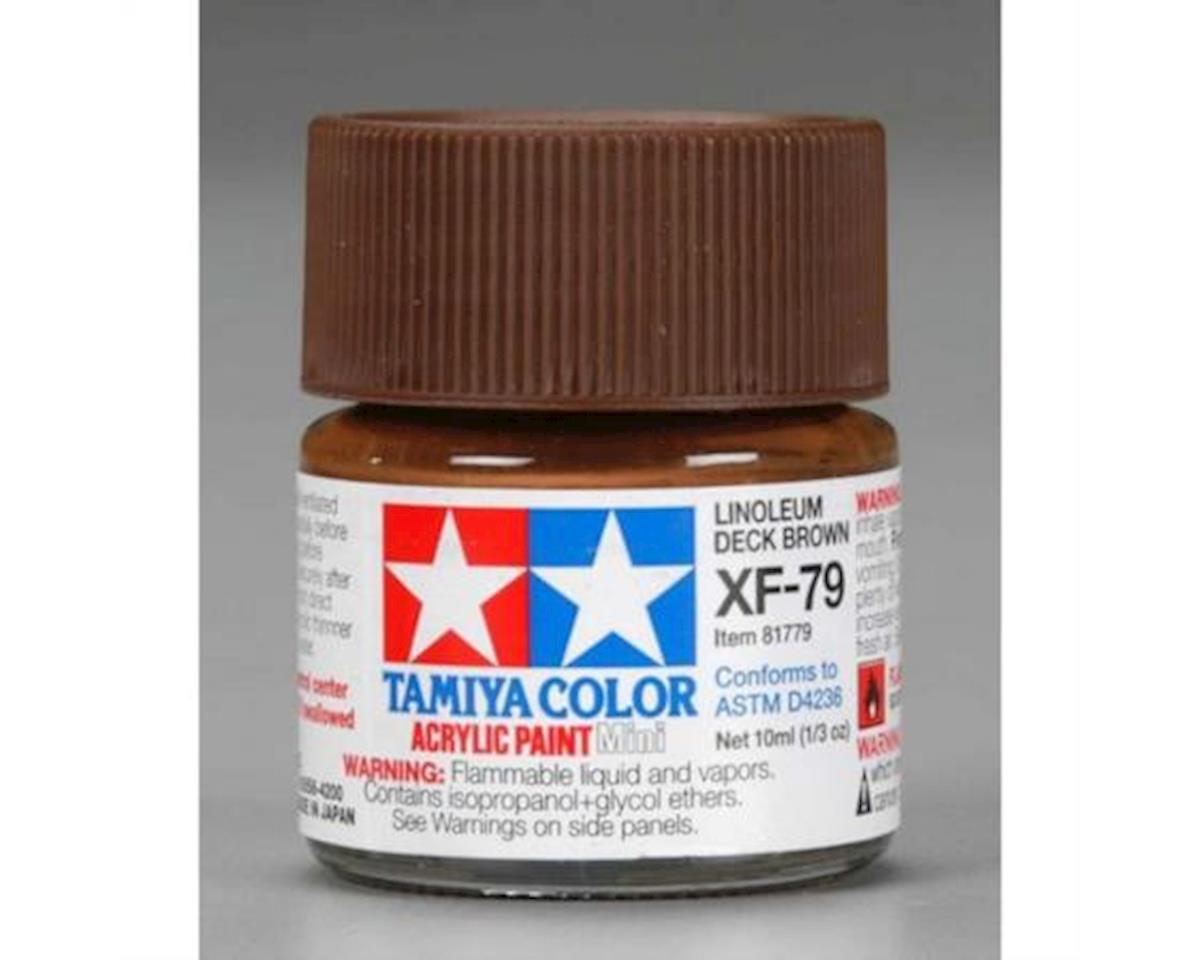Tamiya Acrylic Mini XF79 Flat Deck Brown Paint (10ml)
