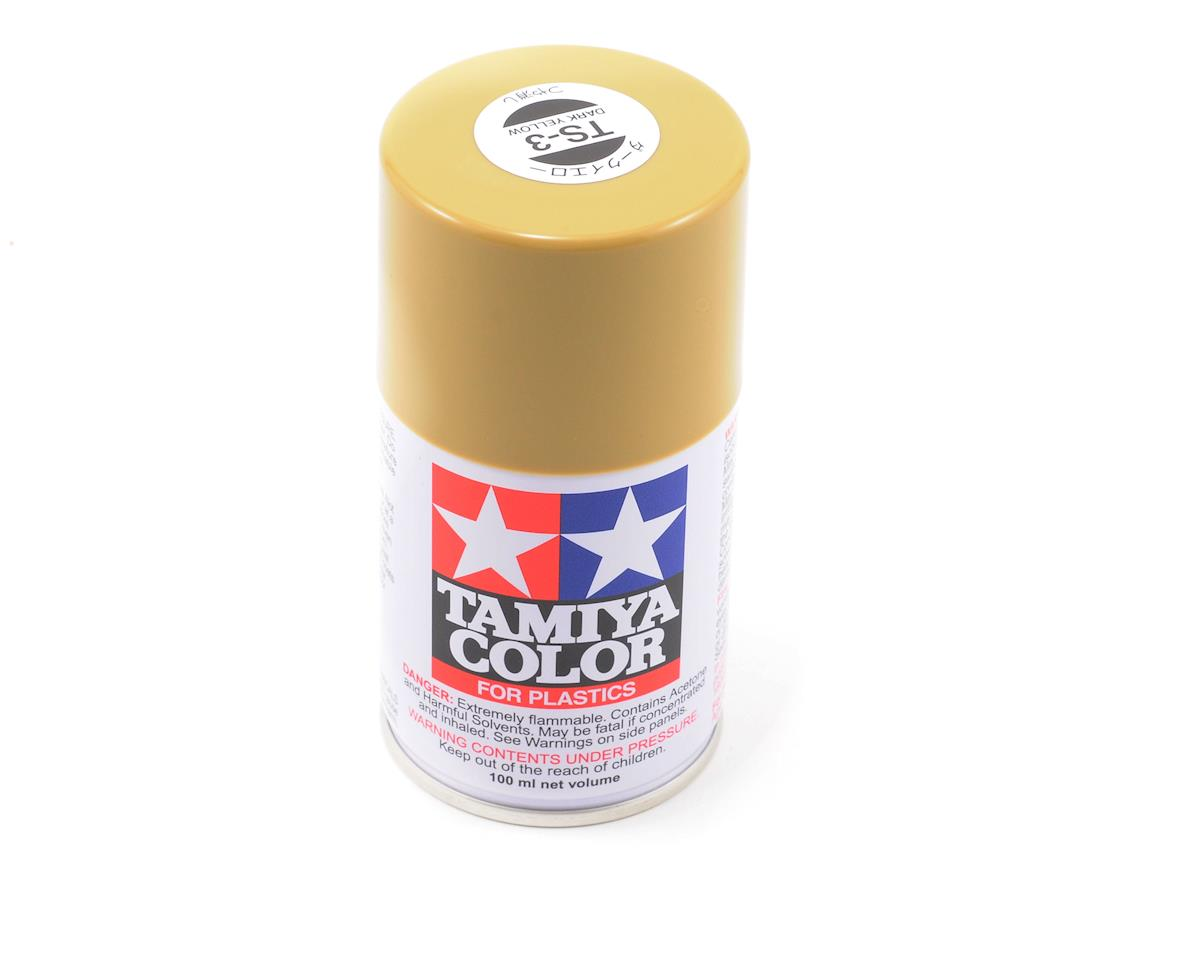 Tamiya TS-3 Dark Yellow Lacquer Spray Paint (3oz)