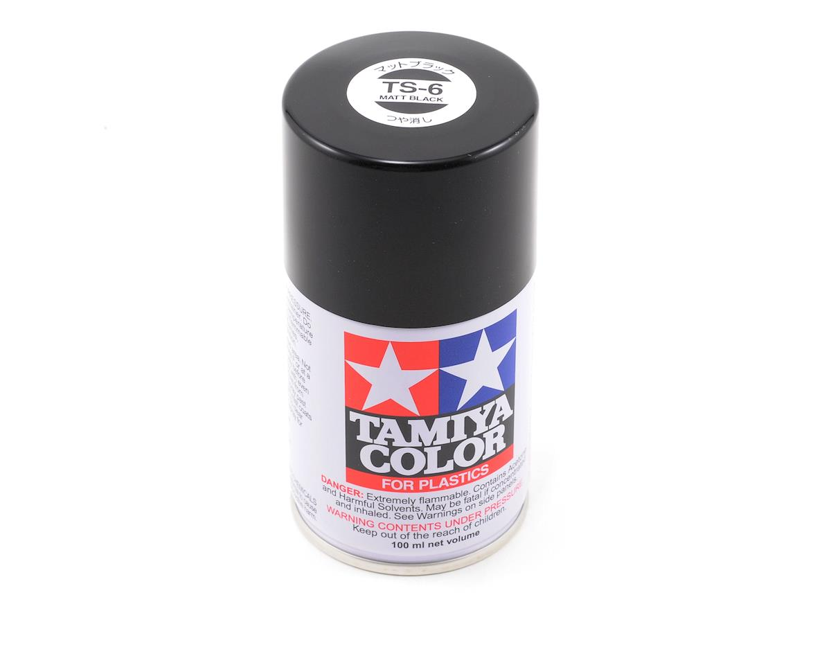 Tamiya TS-6 Matte Black Lacquer Spray Paint (100ml)