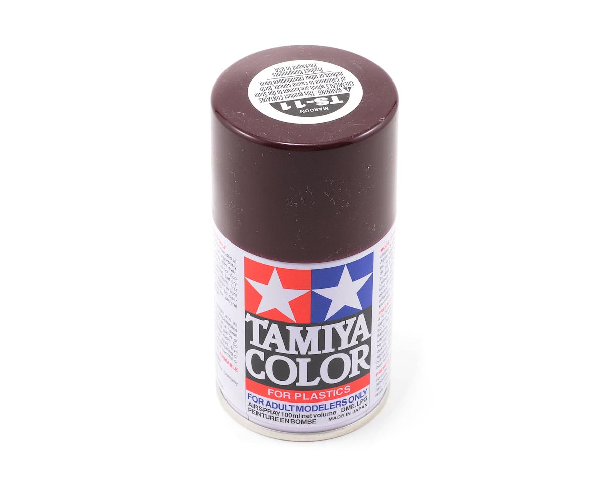TS-11 Maroon Lacquer Spray Paint (3oz) by Tamiya