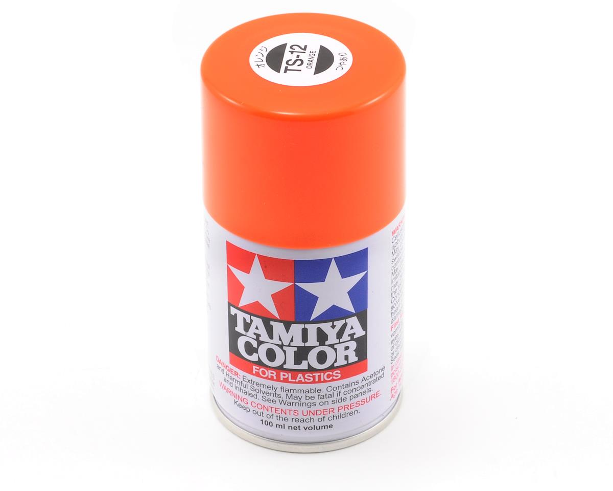 Tamiya TS-12 Orange Lacquer Spray Paint (3oz)