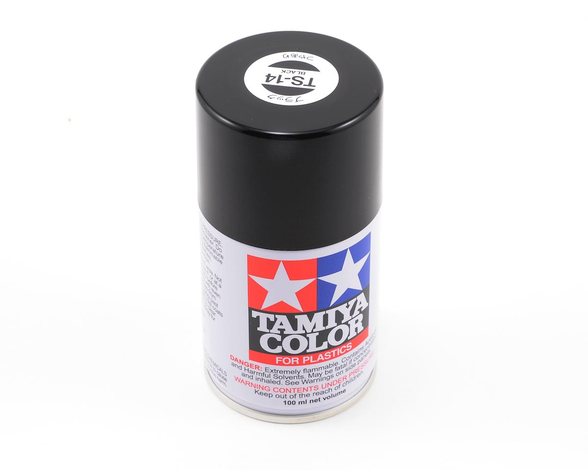 TS-14 Black Lacquer Spray Paint (3oz) by Tamiya
