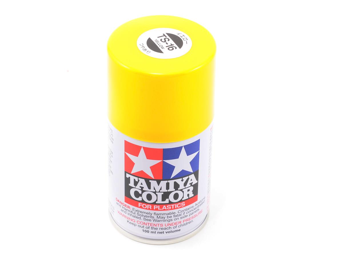 Tamiya TS-16 Yellow Lacquer Spray Paint (3oz)