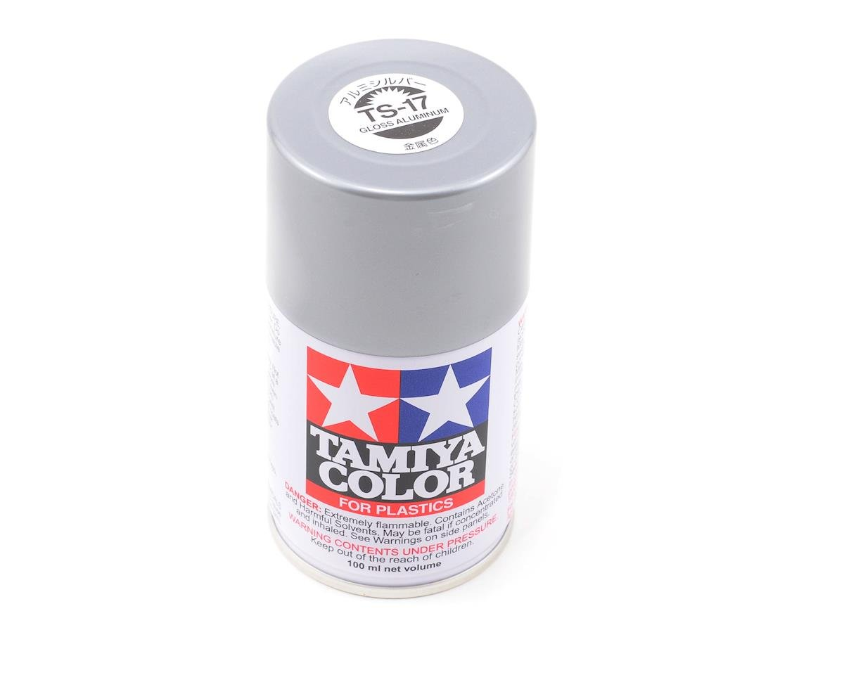 TS-17 Aluminum Silver Lacquer Spray Paint (3oz) by Tamiya