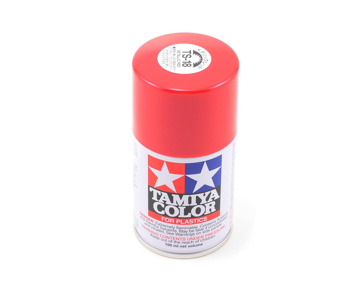 Tamiya TS-18 Metallic Red Lacquer Spray Paint (100ml)