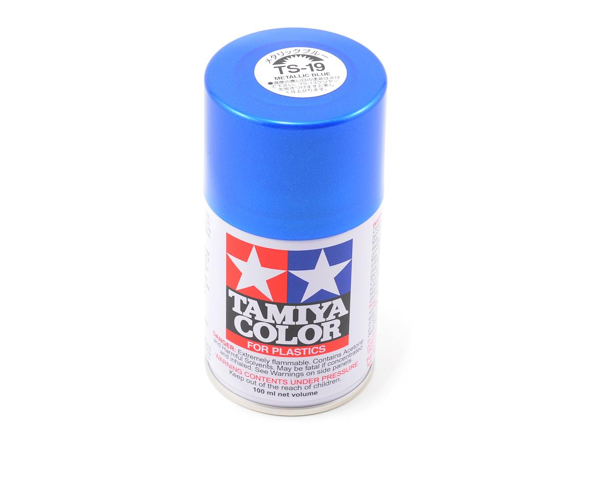 Tamiya TS-19 Metallic Blue Lacquer Spray Paint (3oz)