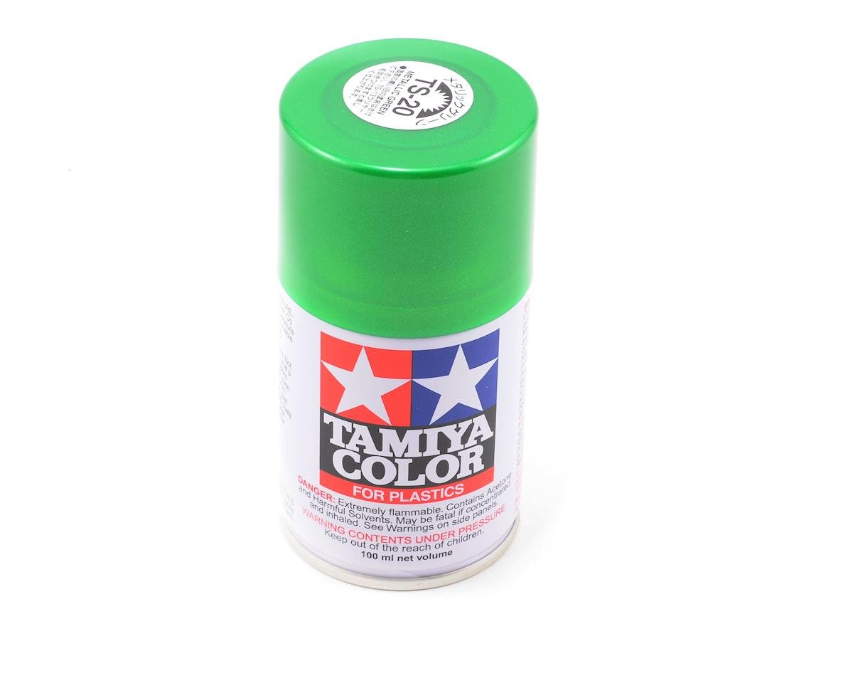 Tamiya TS-20 Metallic Green Lacquer Spray Paint (3oz)