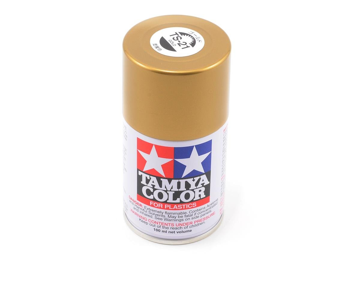 Tamiya TS-21 Lacquer Spray Paint (Gold) (100ml)